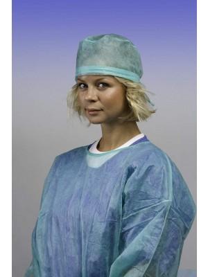 Copricapo chirurgico con lacci regolabili (verde)
