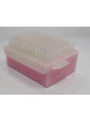 Spugna-spazzola monouso sterile per unghie e mani Tecnoscrub con disinfettante gluconato di clorexidina al 4%, e lancetta per pulizia del solco subungueale