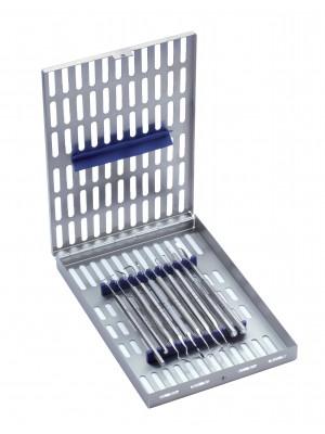 Tray per 10 strumenti, dimensioni 250x170x22 mm