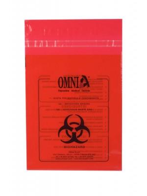 Sacca con adesivo per la raccolta dei rifiuti contaminati
