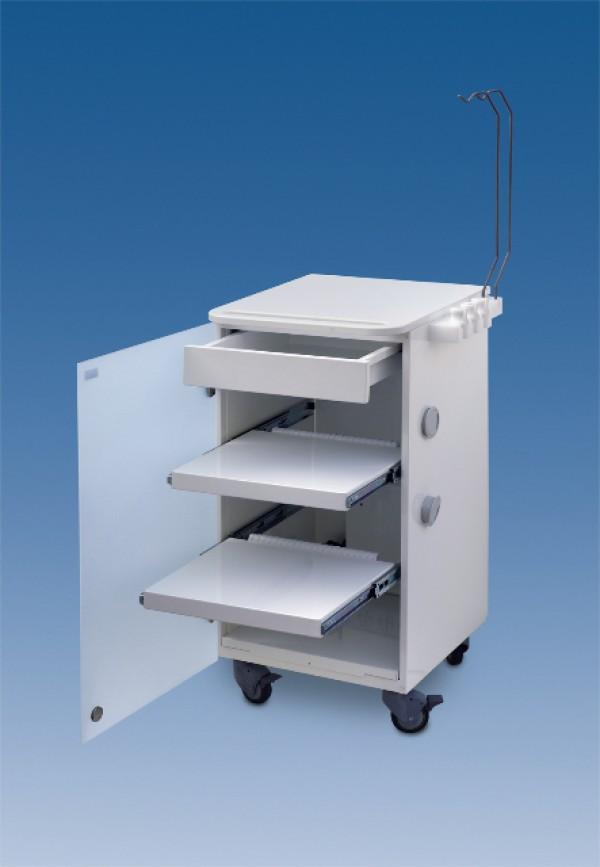 LC Implant suite 2 ripiani e cassetto estraibile (colore bianco)