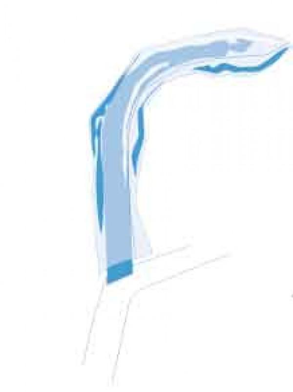 Copertura blocco a mordere per ortopantomografo 4X6 cm  LDPE Trasparente