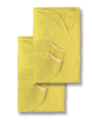Yellow gown with elastics (length cm 110)