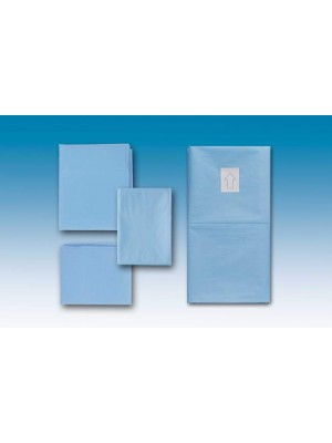 Drape cm 50x50 water-repellent, light blue