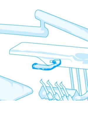 Coprimaniglia a tubo con elastico per faretra bianco