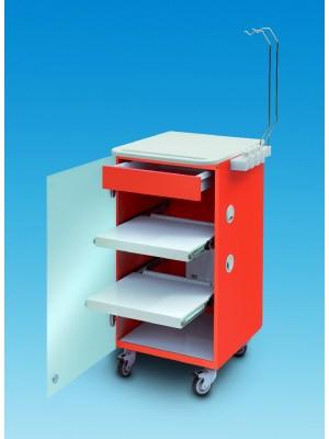 LC Implant suite 2 ripiani e cassetto estraibile (colore arancione)