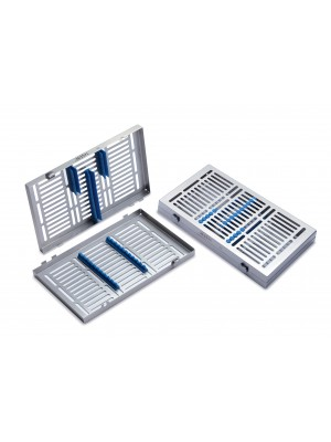 Tray for 10 instruments with detachable cover