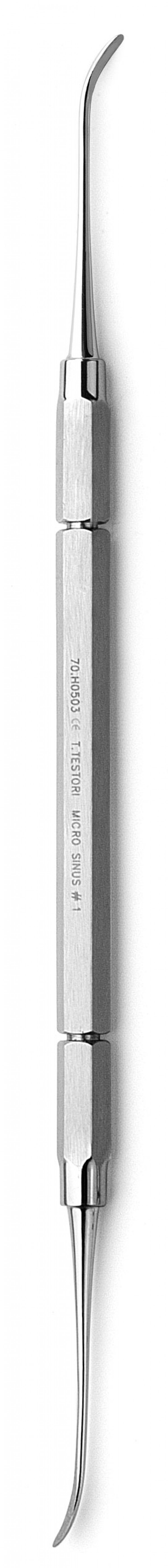 Sinus micro-curette for initial separation in the cranial site