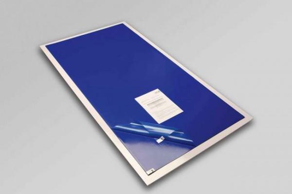 Tappeto decontaminante cm 115x60 con adesivo battericida - set da 30 fogli - comprensivo di base in PVC antiscivolo trasparente per posizionare il tappeto