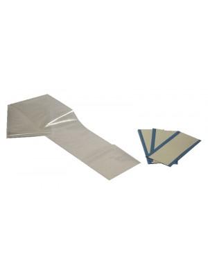 Guaina cm 240x7 con adesivi di fissaggio su biaccoppiato 10x5 cm