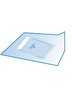 Carta crespata cm 90X90per la sterilizzazione e il confezionamento di kit chirurgici sterili