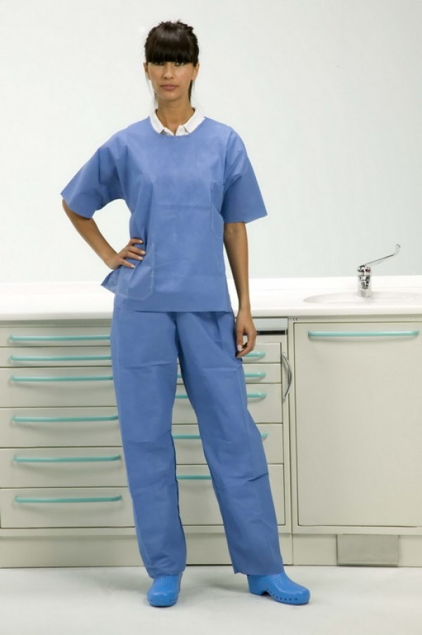 Short-sleeve jacket with trousers L
