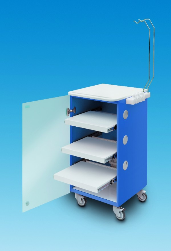 LC Implant suite 3 ripiani (colore blu)