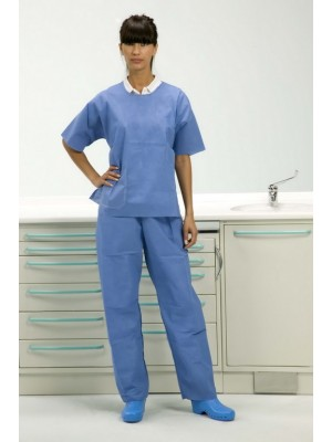 Casacca manica corta con pantalone taglia XL azzurro