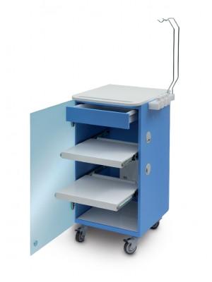 LC Implant suite 2 ripiani e cassetto estraibile (colore blu)