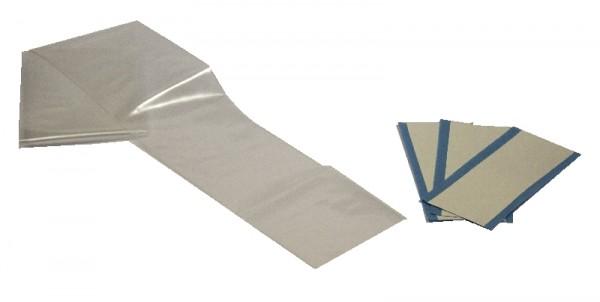 Guaina cm 120x7 con adesivi di fissaggio su biaccoppiato 10x5 cm
