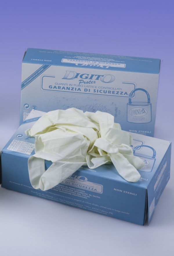 Guanti con polvere Digitoprotex® taglia S